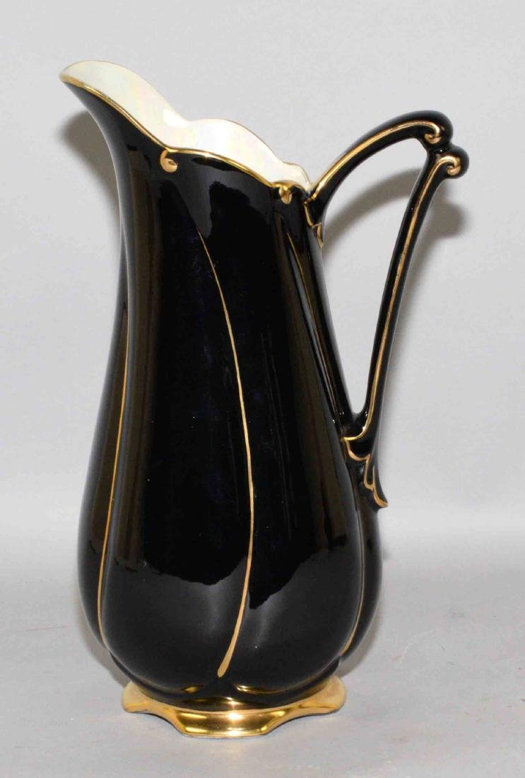 ROYAL WINTON NOIR PITCHER, England, 11.5''H.