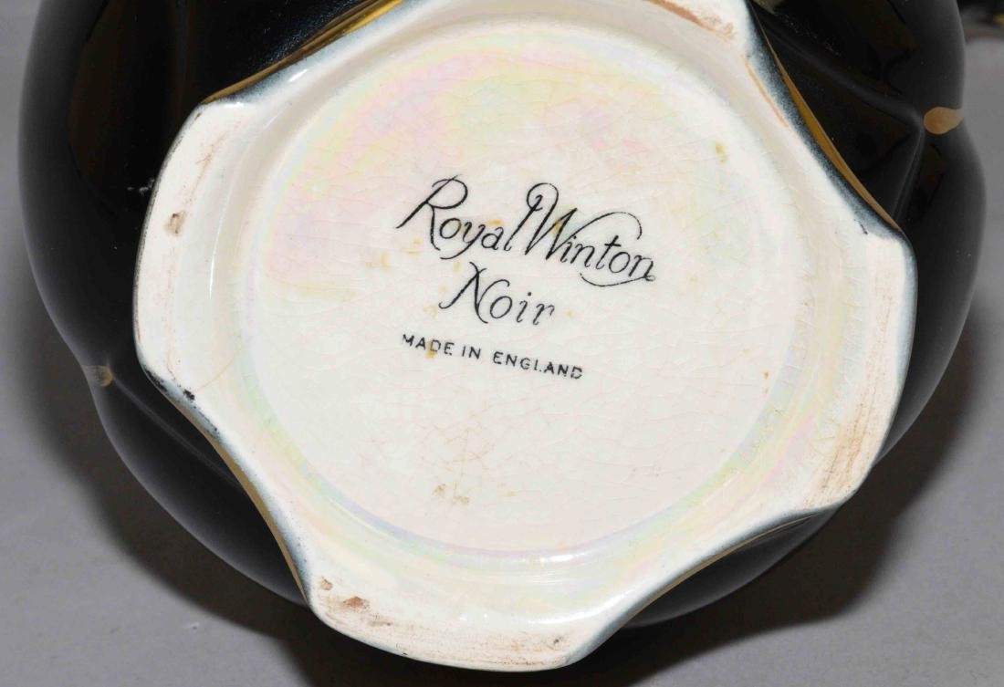 ROYAL WINTON NOIR PITCHER, England, 11.5''H. - 3