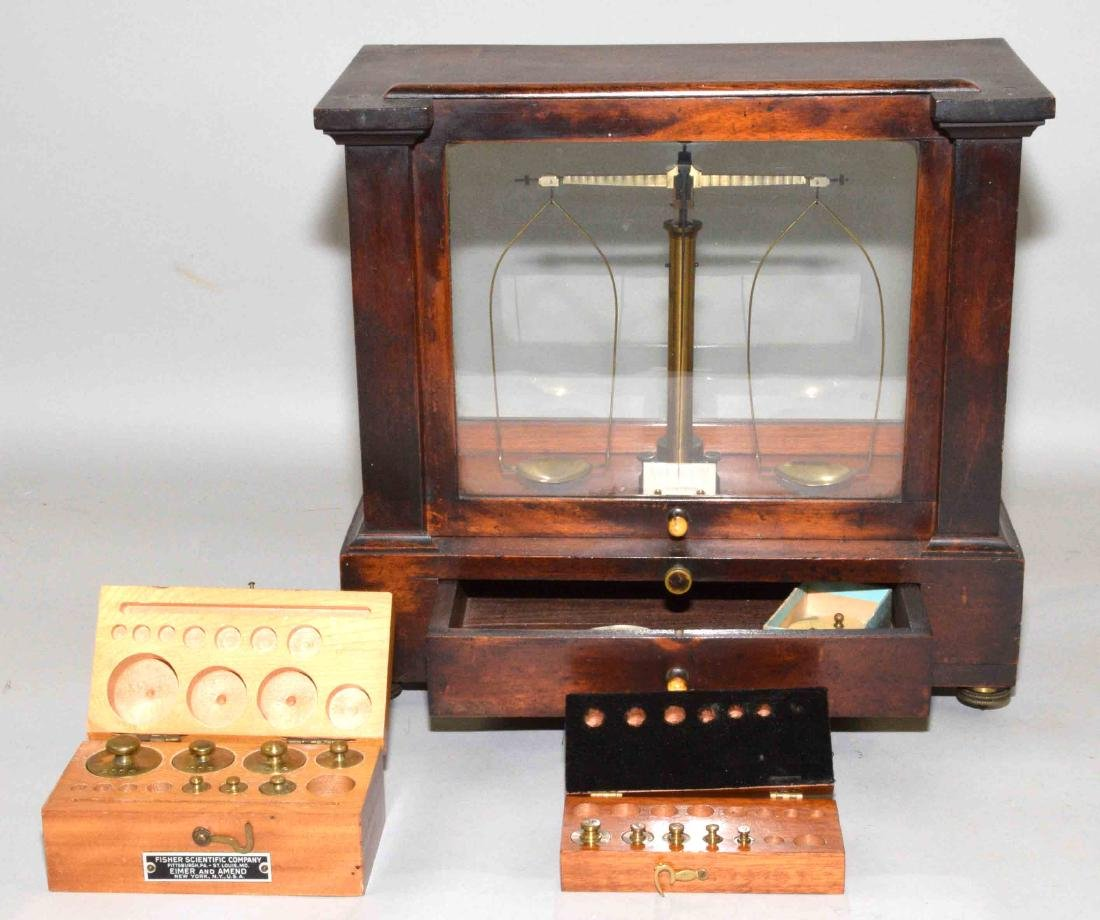 C. KOHLBUSCH BALANCE SCALE with partial weight sets