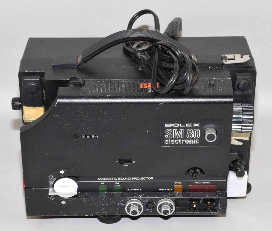 BOLEX SM80 ELECTRONIC MAGNETIC SOUND PROJECTOR. 8.5''H