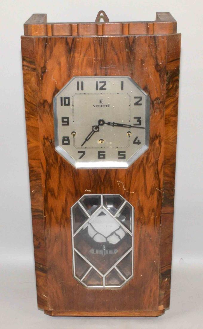 VEDETTE ART DECO REGULATOR CLOCK. 27''H x 12.5''W x