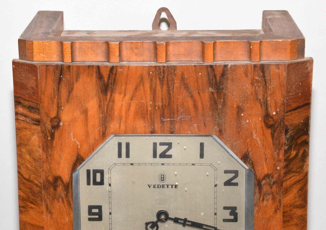 VEDETTE ART DECO REGULATOR CLOCK. 27''H x 12.5''W x - 4