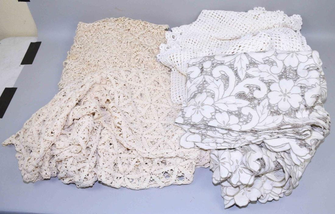 COLLECTION  OF ANTIQUE HAND CROCHET TABLECLOTHS. 4 pcs.