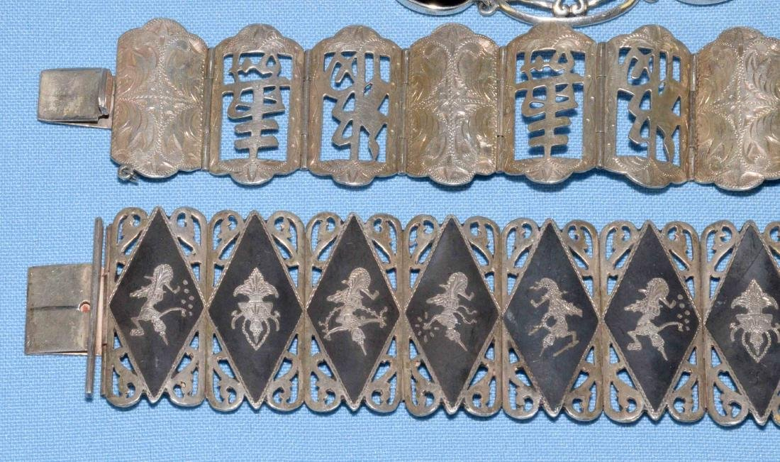(6) PC. MISC. STERLING W/ONYX, MEXICAN AND ORIENTAL - 2