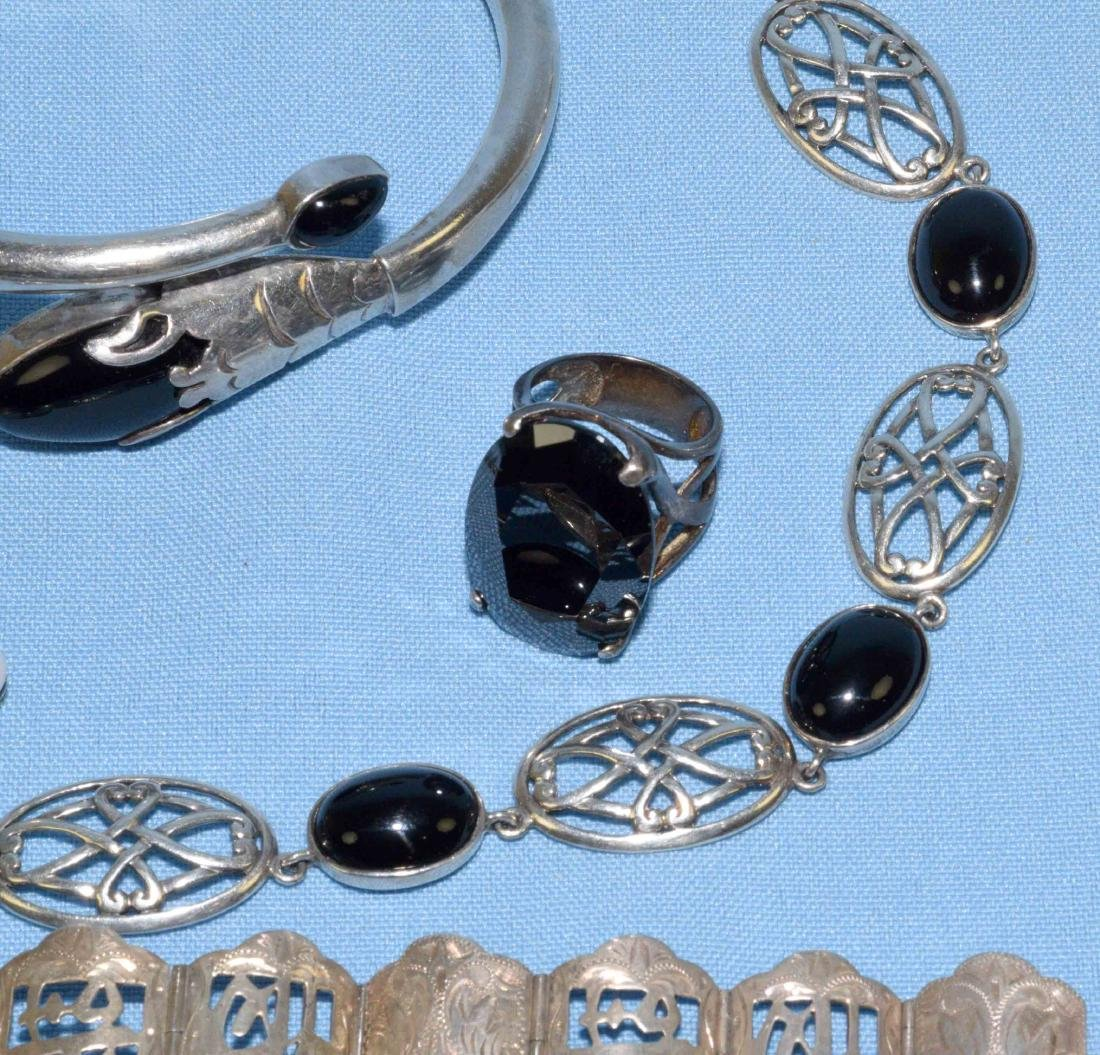 (6) PC. MISC. STERLING W/ONYX, MEXICAN AND ORIENTAL - 3
