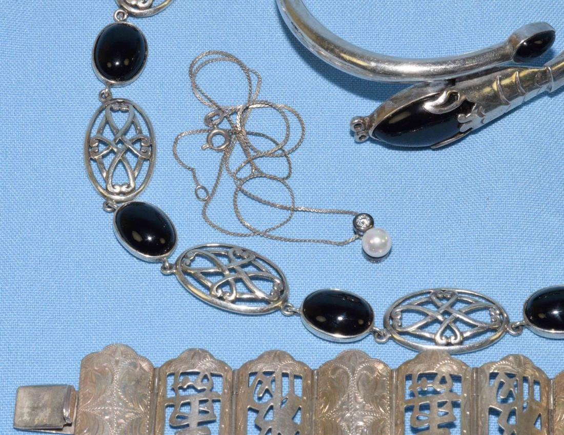 (6) PC. MISC. STERLING W/ONYX, MEXICAN AND ORIENTAL - 4