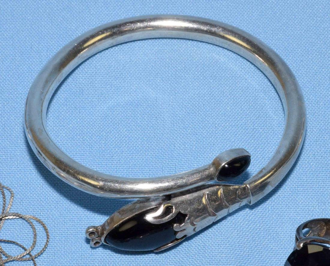(6) PC. MISC. STERLING W/ONYX, MEXICAN AND ORIENTAL - 5
