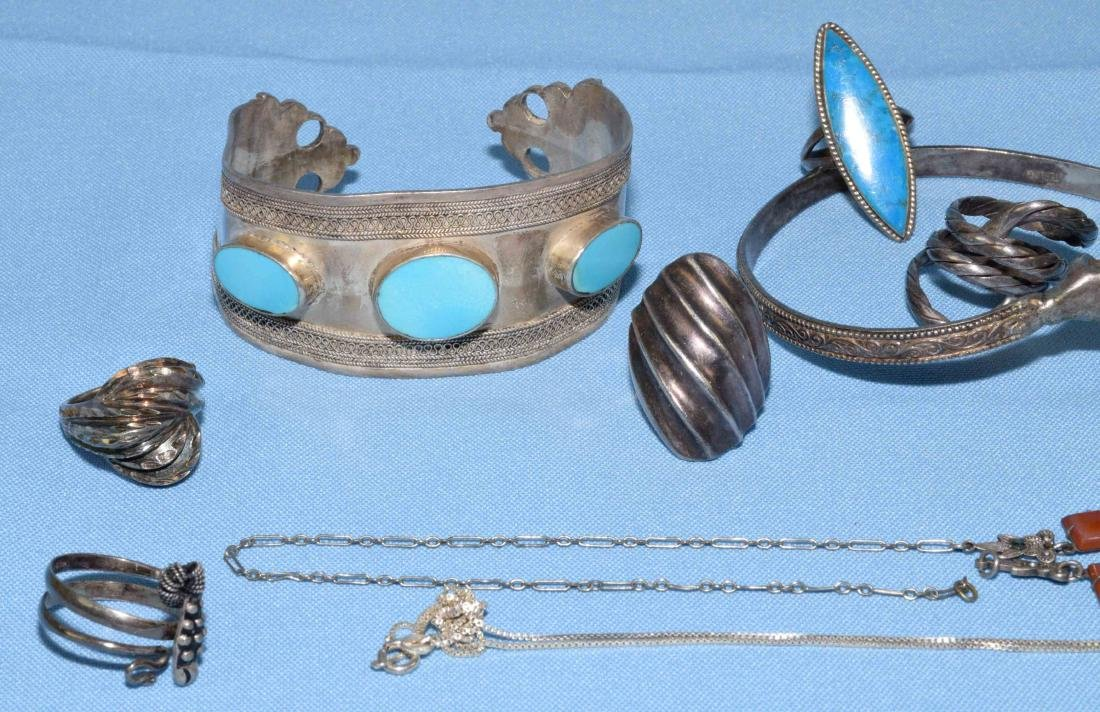 ASST. STERLING RINGS, BRACELETS AND NECKLACES. All - 2