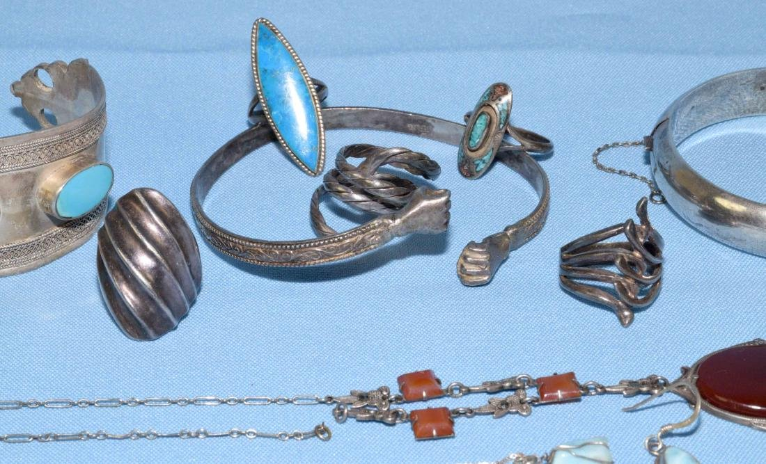 ASST. STERLING RINGS, BRACELETS AND NECKLACES. All - 3