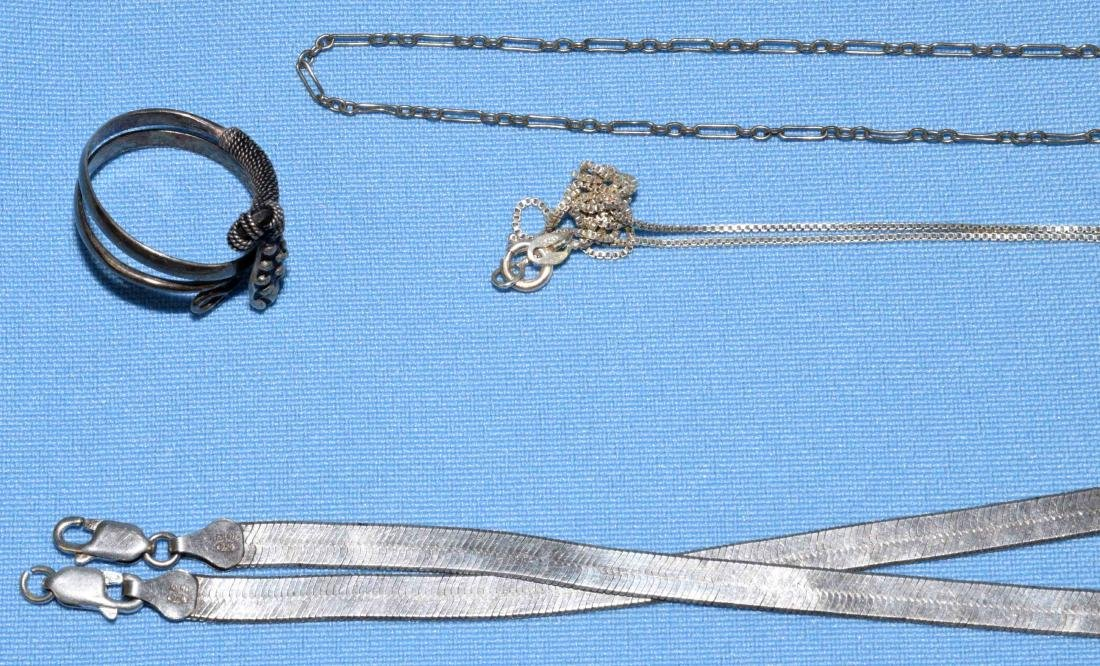 ASST. STERLING RINGS, BRACELETS AND NECKLACES. All - 6