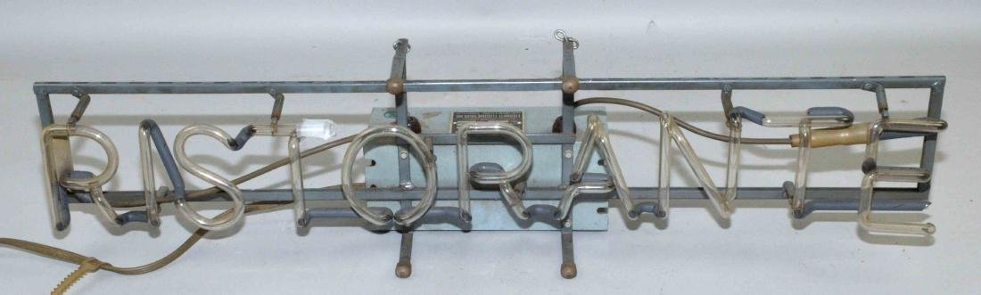 NEON SIGN, ''RISTORANTE''. Does not light up. 33''L x