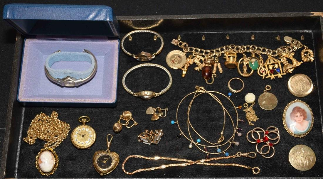 (20) PCS. ASST. LADIES GOLD FILLED JEWELRY. Includes: