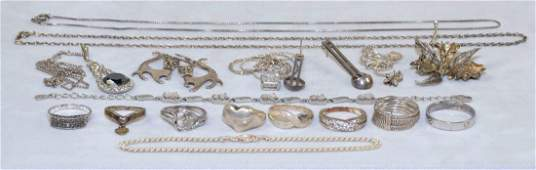 OVER 15 MISC LADIES STERLING JEWELRY Includes