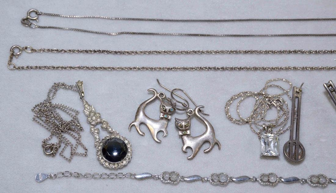 OVER (15) MISC. LADIES STERLING JEWELRY. Includes: - 2