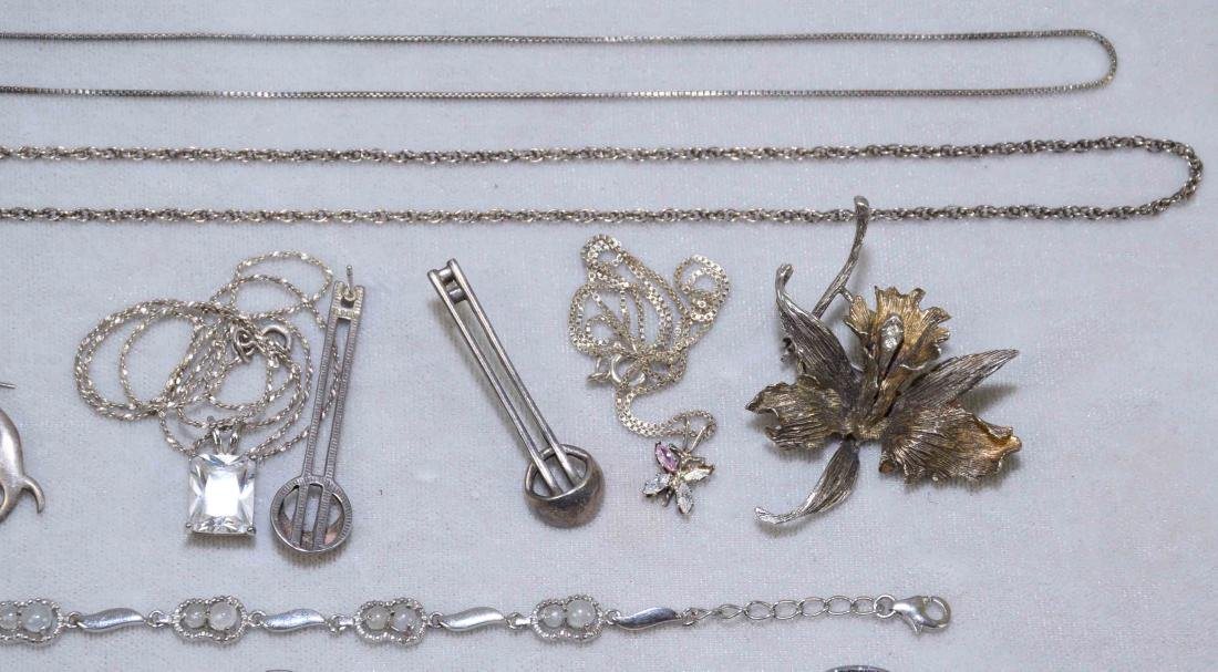 OVER (15) MISC. LADIES STERLING JEWELRY. Includes: - 3