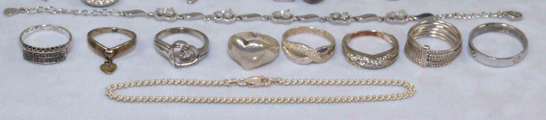 OVER (15) MISC. LADIES STERLING JEWELRY. Includes: - 4