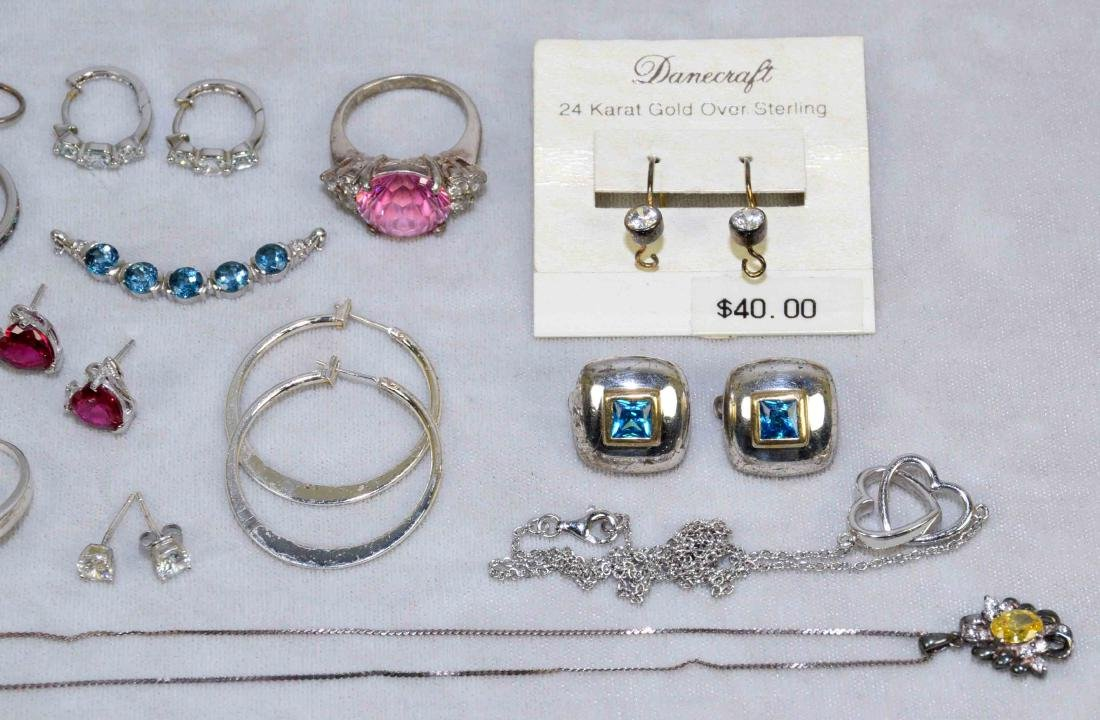 OVER (15) PCS. LADIES STERLING AND SEMI-PRECIOUS STONE - 3