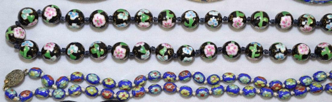 OVER (15) PCS. OF CLOISONNE JEWELRY. Includes: (2) - 3