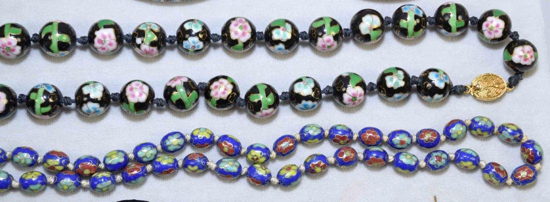 OVER (15) PCS. OF CLOISONNE JEWELRY. Includes: (2) - 4