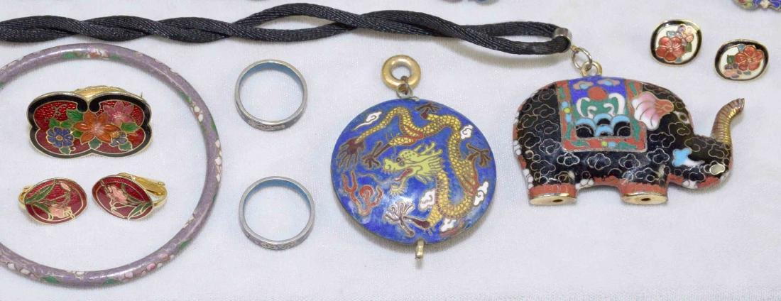 OVER (15) PCS. OF CLOISONNE JEWELRY. Includes: (2) - 6