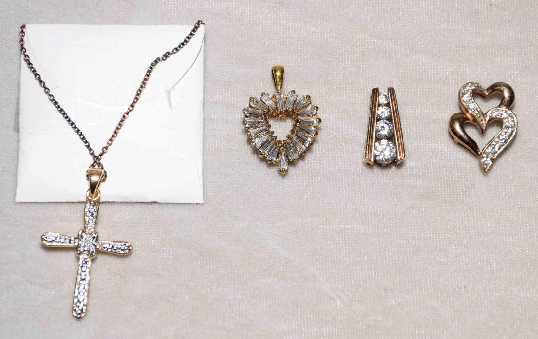 (10) PC. ASST. STERLING VERMEIL AND DIAMOND JEWELRY - 2
