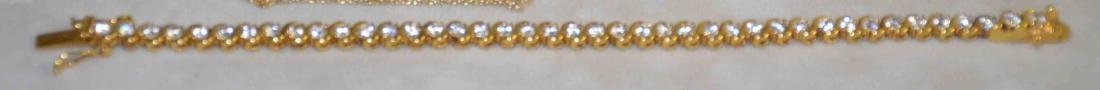(10) PC. ASST. STERLING VERMEIL AND DIAMOND JEWELRY - 4