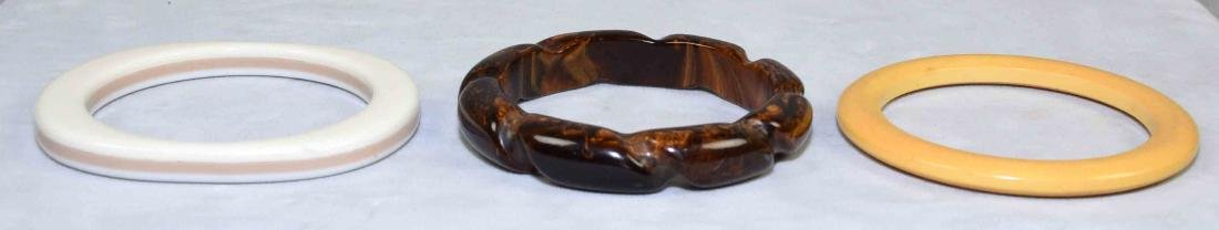 (5) PC. ASST. BAKELITE JEWELRY. Includes bracelets, - 2