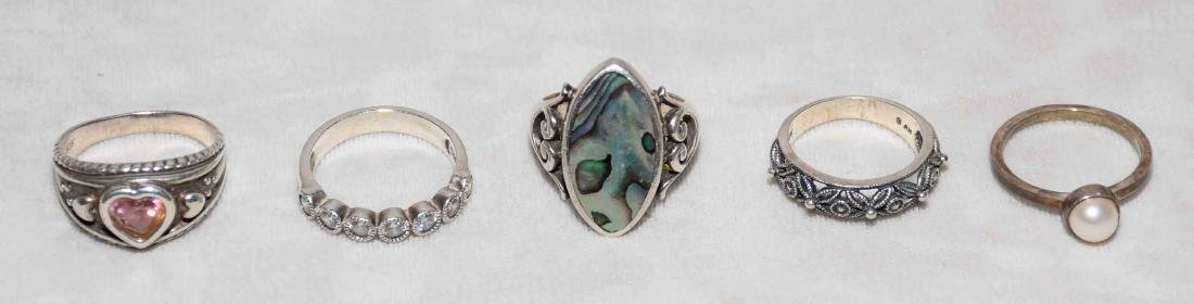 (10) ASST. LADIES STERLING AND SEMI-PRECIOUS STONE - 2
