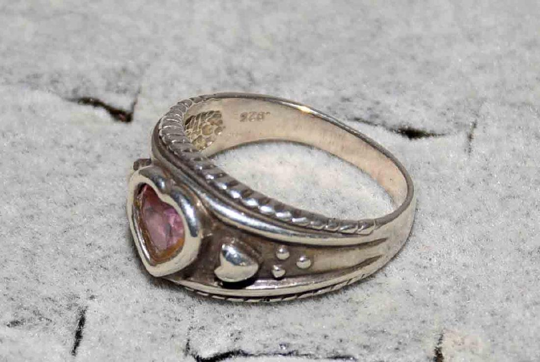 (10) ASST. LADIES STERLING AND SEMI-PRECIOUS STONE - 4
