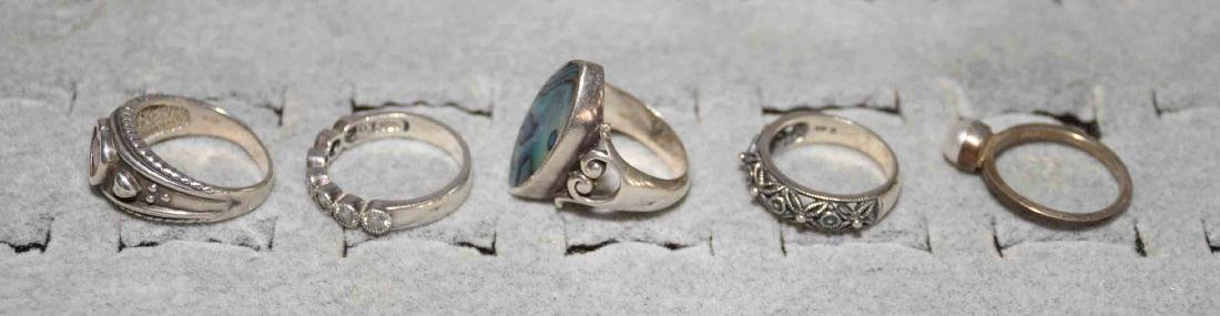 (10) ASST. LADIES STERLING AND SEMI-PRECIOUS STONE - 6