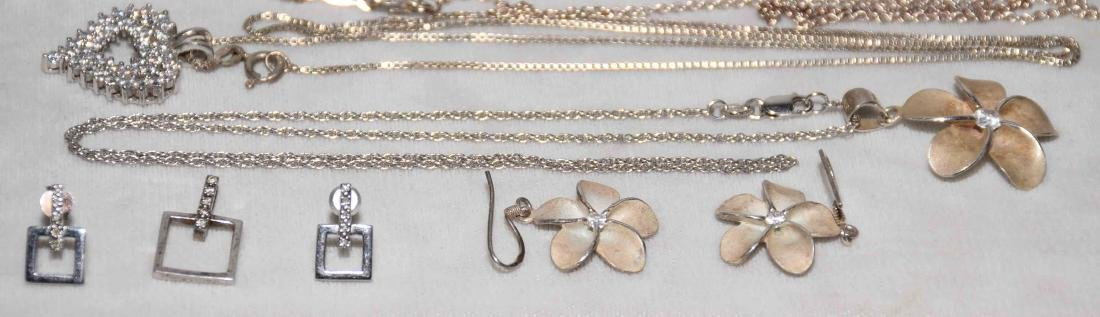 (11) PCS. ASST. LADIES STERLING AND CUBIC ZIRCONIA - 2