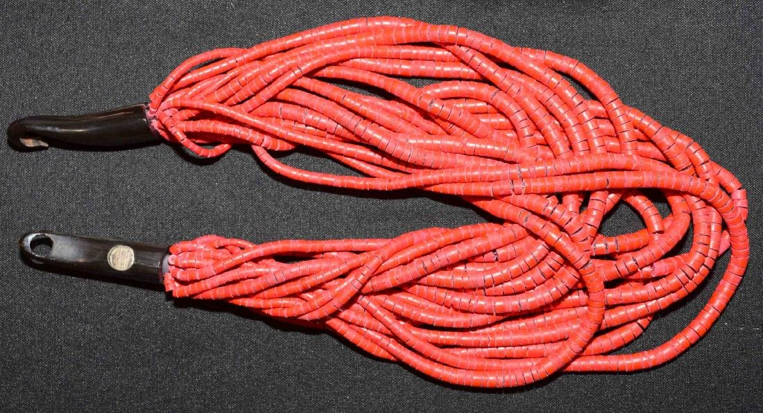 (5) ASST. NECKLACES IN CORAL, NATURAL OR RESIN - 3