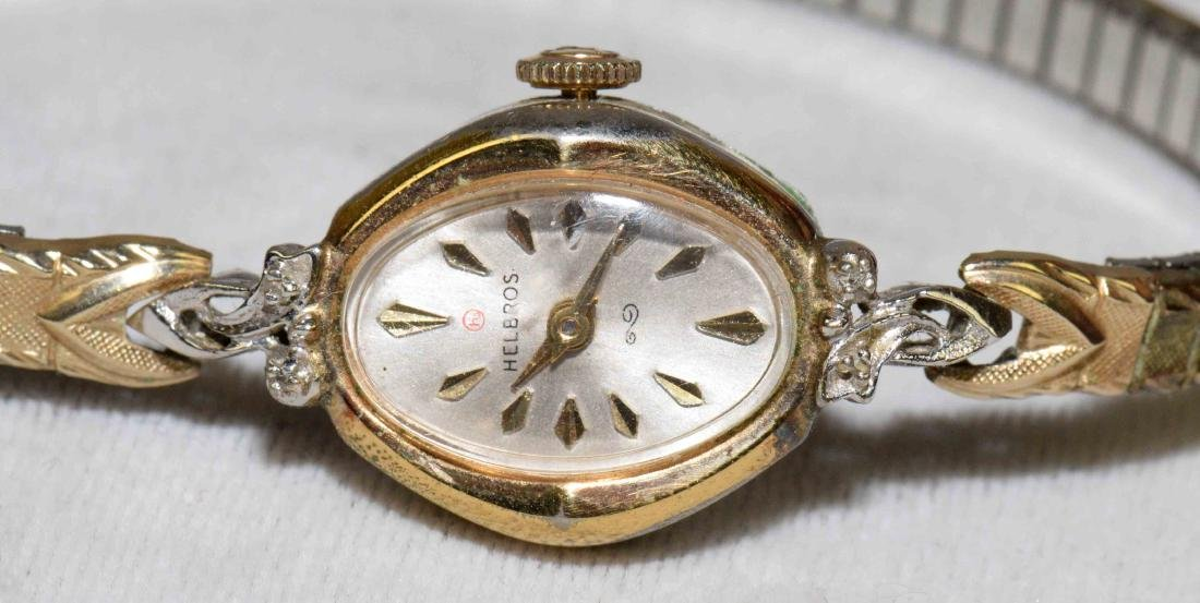 (3) VINTAGE LADIES WRISTWATCHES in 10KG fill and - 5