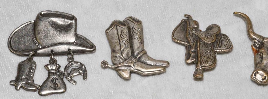 (15) PCS. STERLING JEWELRY w/5 silvered cowboy - 2