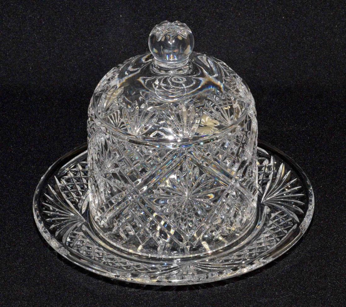 WATERFORD SEAHORSE CRYSTAL DESSERT DOME, signed Samuel