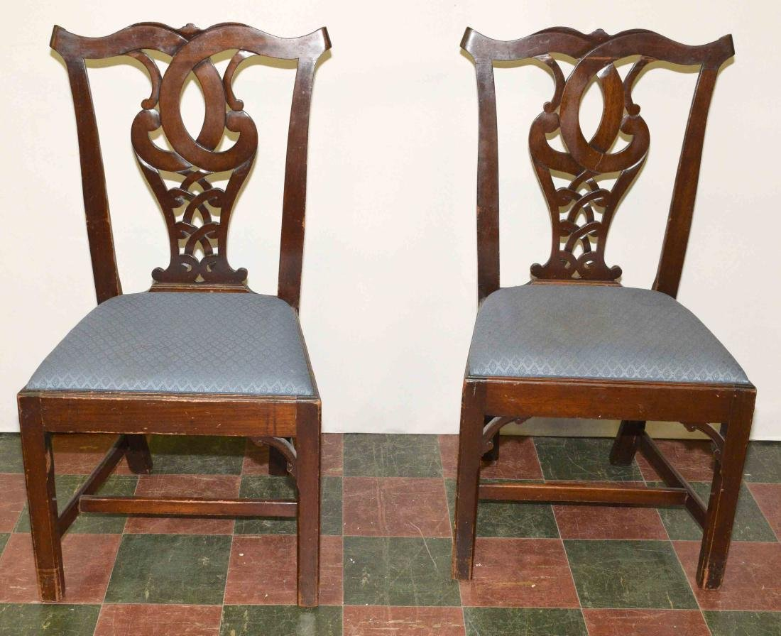 PAIR OF CHAIRS. 39''H x 21''W x 17''D.
