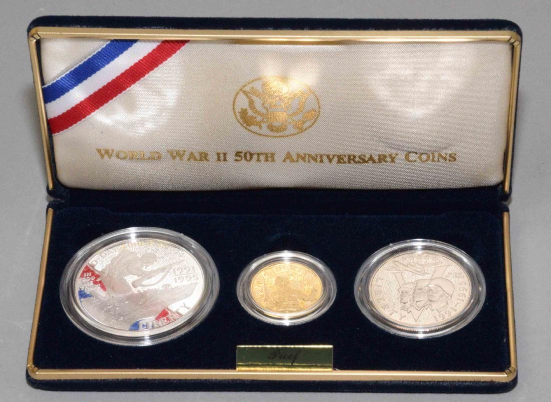 1991-1995 WORLD WAR II, 50TH ANNIVERSARY PROOF SET. Set
