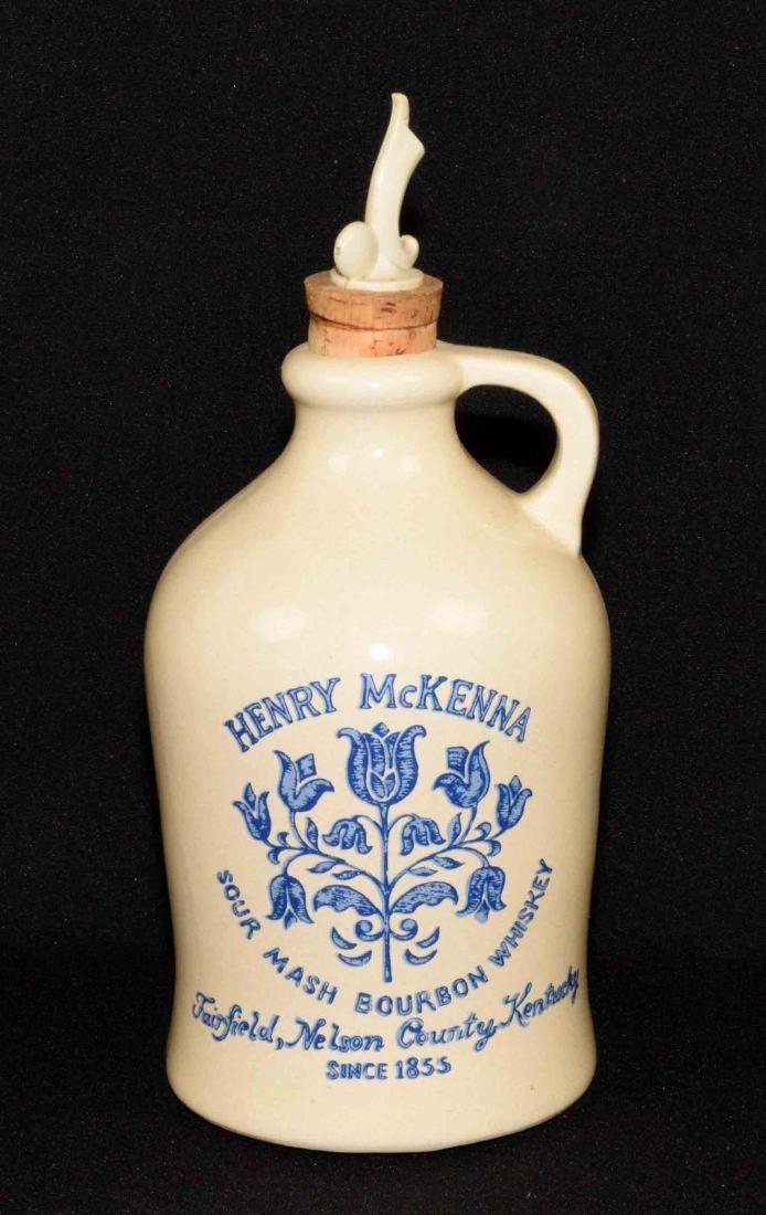 HENRY MCKENNA SOUR MASH BOURBON JUG with stopper.