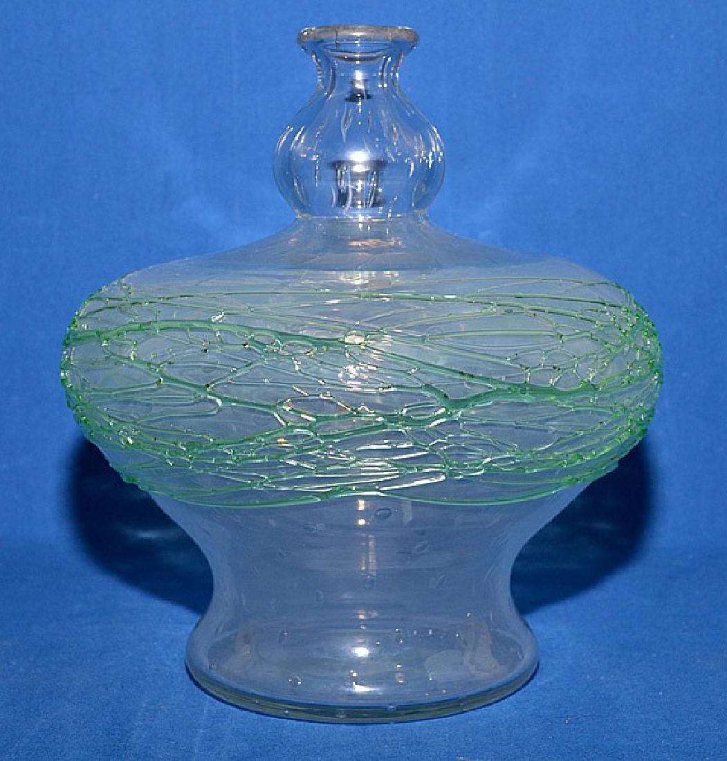 STEUBEN COLORLESS GLASS/CRYSTAL BOTTLE VASE -