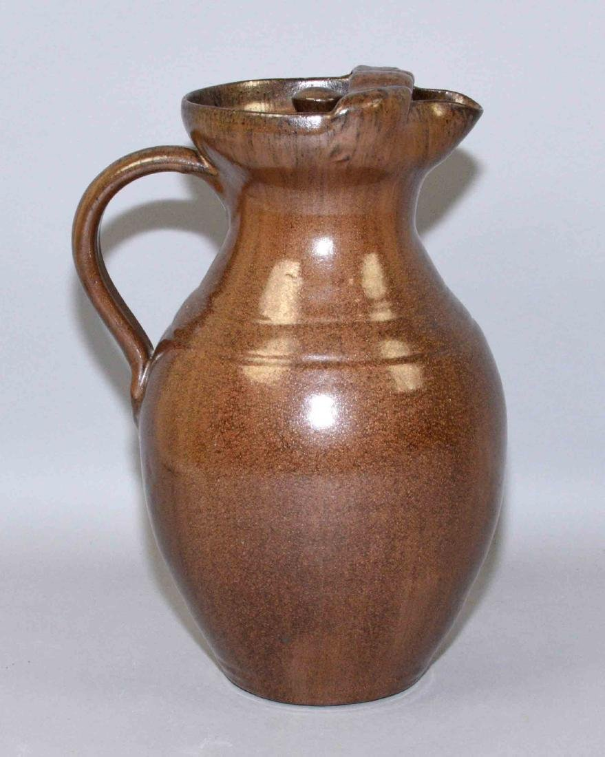 A.R. COLE ART POTTERY PITCHER. Stamped A.R. Cole - 3