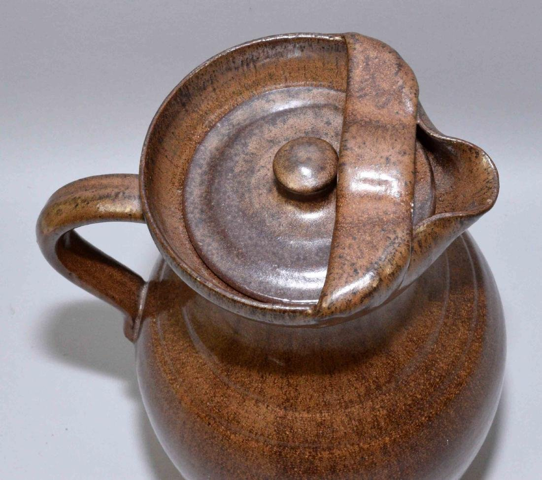 A.R. COLE ART POTTERY PITCHER. Stamped A.R. Cole - 4