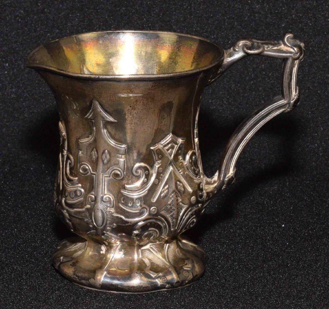 STERLING HANDLED MINIATURE PITCHER from 1852 with