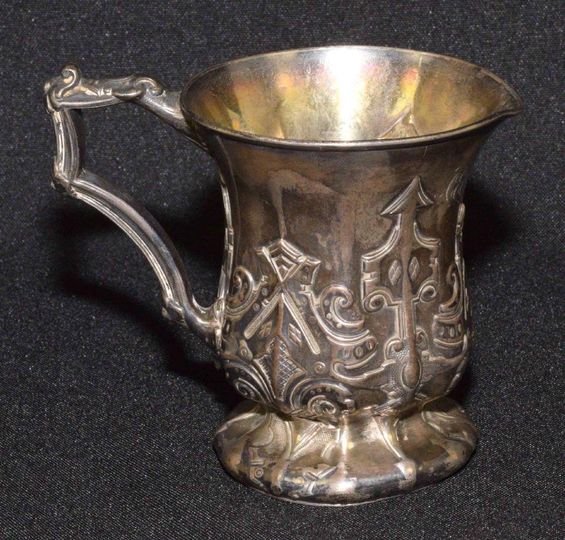 STERLING HANDLED MINIATURE PITCHER from 1852 with - 3