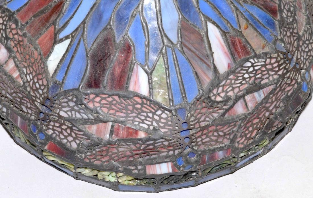 STAINED GLASS DRAGONFLY LAMP SHADE, hand made by Jim - 2