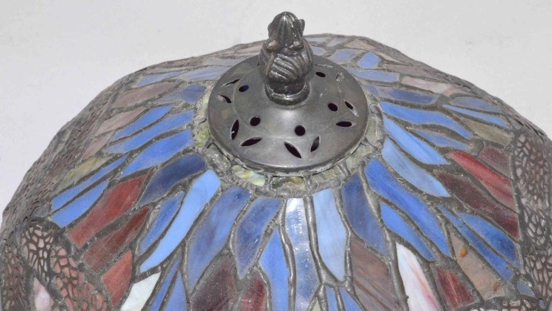 STAINED GLASS DRAGONFLY LAMP SHADE, hand made by Jim - 3