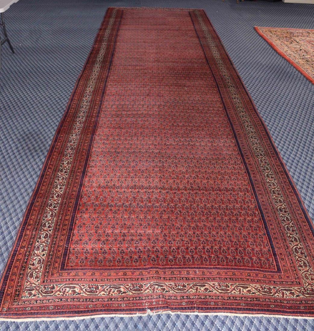 ANTIQUE PERSIAN RUG, circa 1900-1910. 20'4'' x 6'.