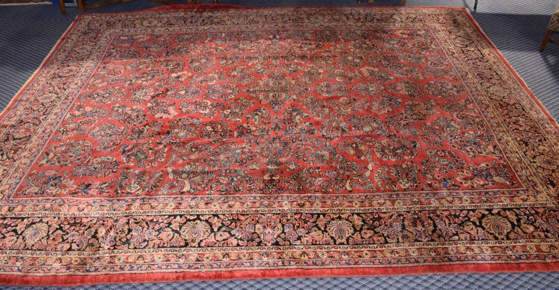 ANTIQUE PERSIAN SAROUK RUG IN MANDARIN COLOR. 15'9'' X