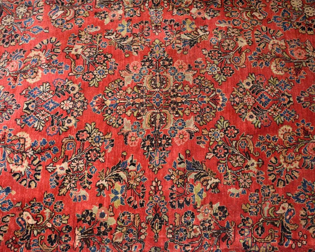 ANTIQUE PERSIAN SAROUK RUG IN MANDARIN COLOR. 15'9'' X - 2