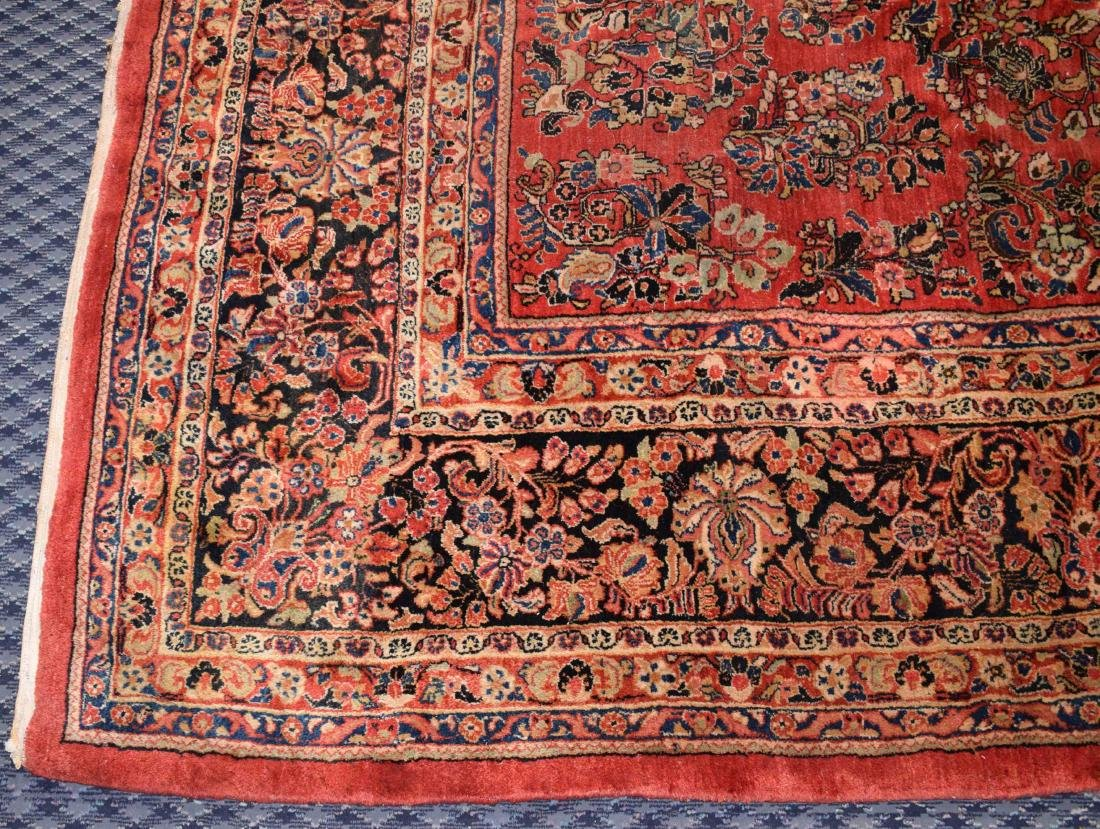 ANTIQUE PERSIAN SAROUK RUG IN MANDARIN COLOR. 15'9'' X - 3