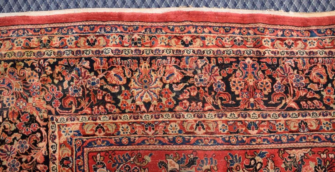 ANTIQUE PERSIAN SAROUK RUG IN MANDARIN COLOR. 15'9'' X - 4